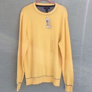 Club Room NWT Yellow Sweater Size M